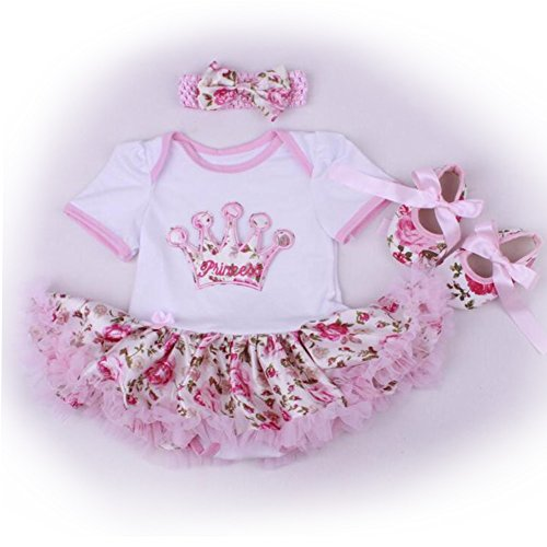 "Doll Clothes for 20""- 22"" Girl Baby Clothing Matching Doll Baby Dress"