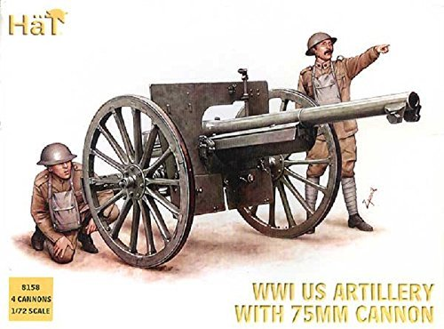 (HAT Industrie 1/72 WWI US Artillery 4 per box # 8158 by HaT Industrie)
