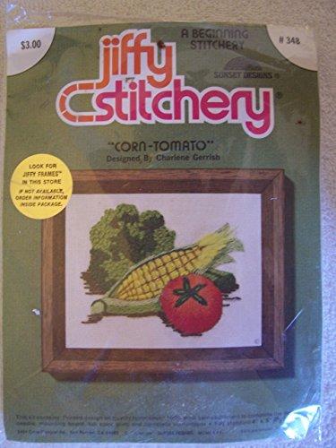 Corn - Tomato by Charlene Gerrish - Jiffy Stitchery Crewel Embroidery Kit #348
