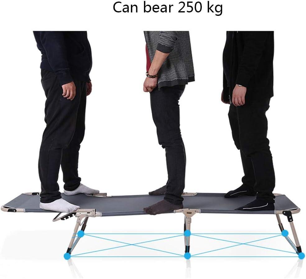 m/áx Cama plegable para camping carga est/ática viajes 260 kg tumbona de camping para exteriores uso dom/éstico DRMOIS camping