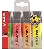 STABILO BOSS ORIGINAL - Pochette de 4 surligneurs - Coloris assortis