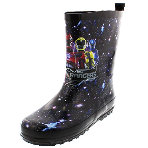 Power Ranger Shoes (Saban Power Rangers Power Rangers Boys Rain Boots (11-12 M US Little Kid, Power Rangers Black))