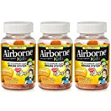Airborne Kids Assorted Fruit Flavored Gummies, 21 count – 667mg of Vitamin C and Minerals & Herbs Immune Support (Pack of 3)
