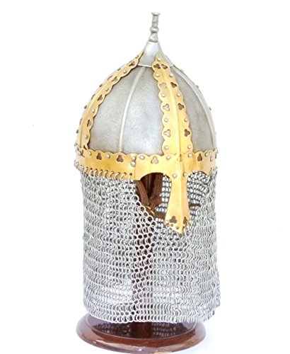 [Armor Venue: Russian Medieval Boyar Helm with Chain Mail Camail Medium] (Russian Princess Costumes)