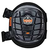 Ergodyne ProFlex 355 Professional Knee Pads, Protective Short Cap, Injected Gel Padded Technology, Adjustable Straps, Black