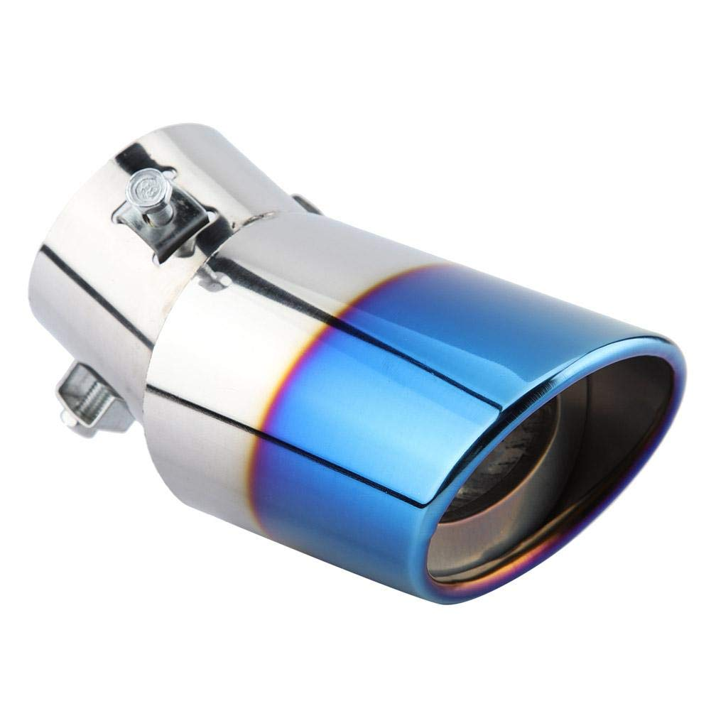 Silenziatore coda di scarico Punte Coda in acciaio inox cromato GM Tubo di scappamento curvo posteriore Coda di coda