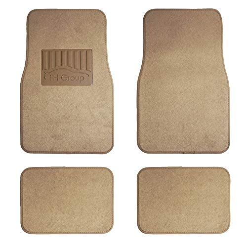FH Group F14402 Premium Carpet Floor Mats with Heel Pad, Beige Color- Fit Most Car, Truck, SUV, or -