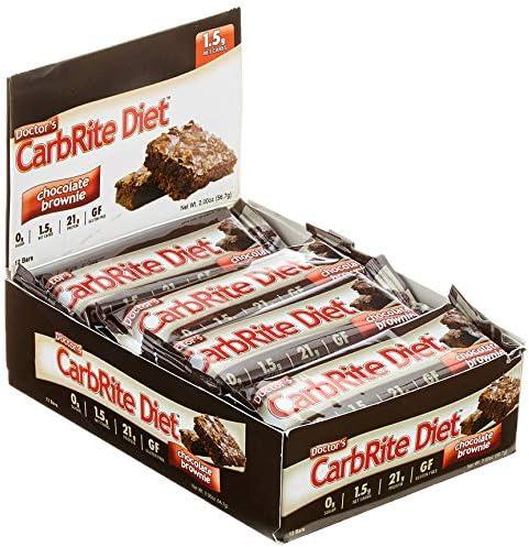 Universal Nutrition Doctor's CarbRite Bar Proteinriegel Eiweißriegel 12x56.7g  (Chocolate Brownie - Schokokuchen)