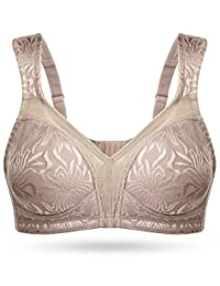 bfe452f034 WingsLove Women s Full Coverage Non Padded Comfort Strap Minimizer  Wire-free Bra