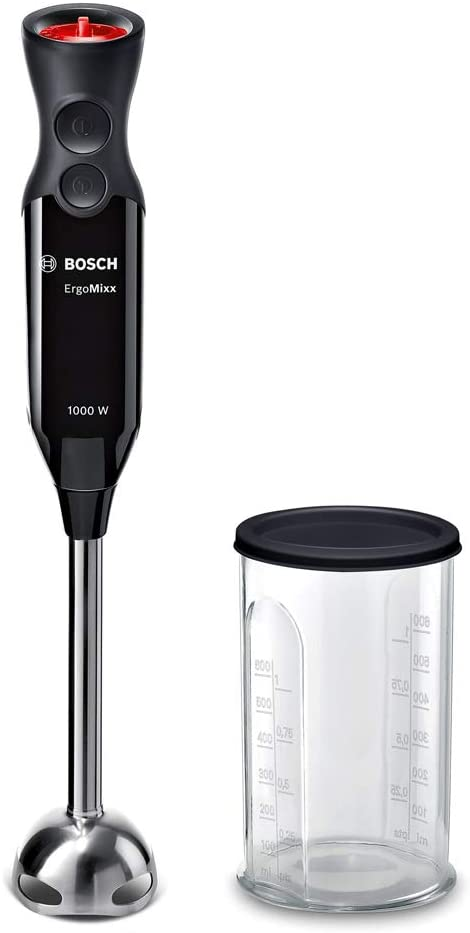 Bosch MS6CB6110 Ergomixx Batidora Mano, 1000 W, Acero Inoxidable, 12 Velocidades, Con 1 Accesorio, Negro