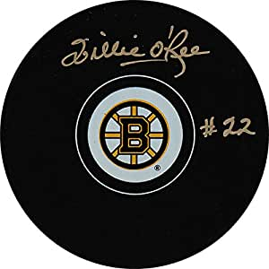 Willie O'Ree Autographed Boston Bruins Puck at Amazon's ...