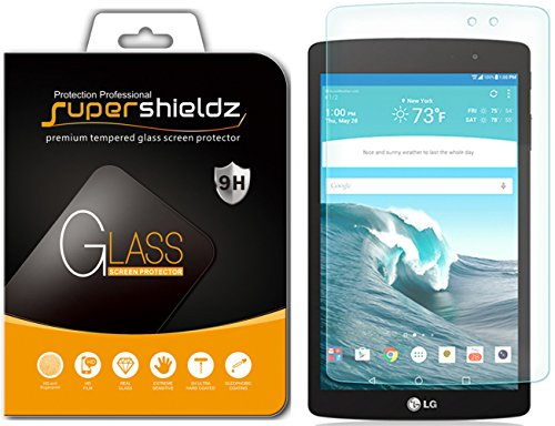 LG G Pad X8.3 Tempered Glass Screen Protector, Supershieldz Anti-Scratch, Anti-Fingerprint, Bubble Free, Lifetime Replacement Warranty