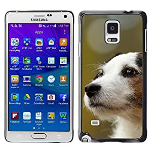 TopCaseStore / la caja del caucho duro de la cubierta de protección de la piel - Jack Russell Terrier Dog Canine - Samsung Galaxy Note 4 SM-N910