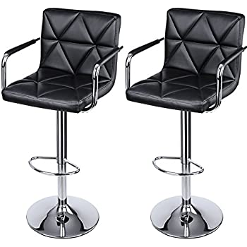 Amazon Com Modern Leather Contemporary Swivel Adjustable