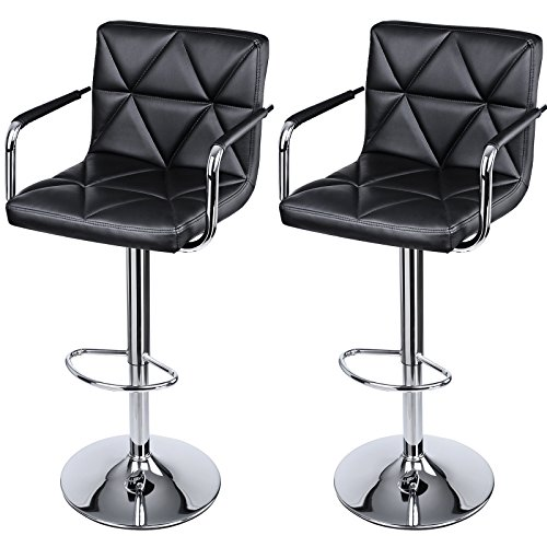 SONGMICS Adjustable Bar Stools With Arms And Back ...