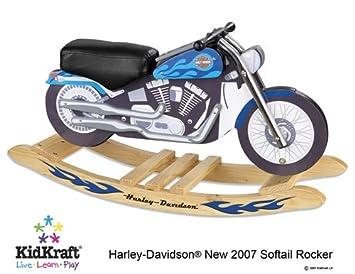 Charmant Harley Davidson Blue Softail Rocker