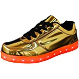 AIWOQI:D006 Bluetooth Control Women&Men Colorful of Light USB Charging Light Up Shoes Fahion LED Sneakers