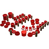 1995-1999 Mitsubishi Eclipse Hyper-Flex System Incl. Front And Rear Control Arm Bushing Front And Rear Shock Bushings Transmission Shifter Stabilizer Bushing Red