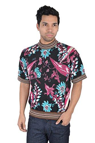 (Prada Men's Multi-Color Silk Knitted T-Shirt US S IT 46)