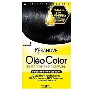 keranove coloration oleo color brillance prodigieuse 1 noir obscur - Coloration Keranove