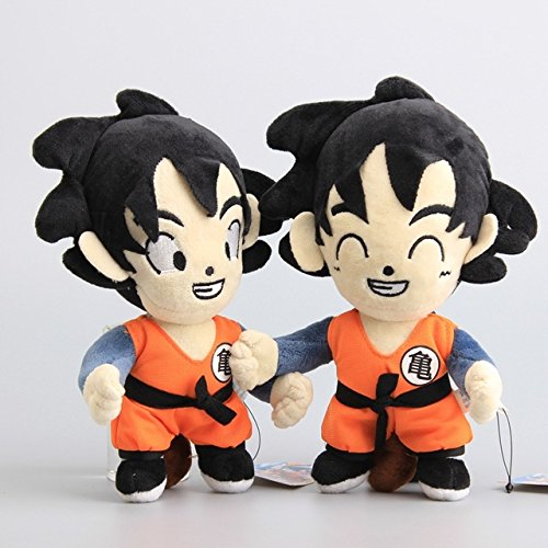 Dragon Ball Z Son Goku & Son Goten 9 Inch Toddler Stuffed Plush Kids Toys 2 Pcs/set