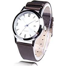 Decent Waterproof Quartz Wristwatch with Artificial Leather Band for Men