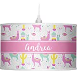 RNK Shops Llamas Drum Pendant Lamp Polyester (Personalized)