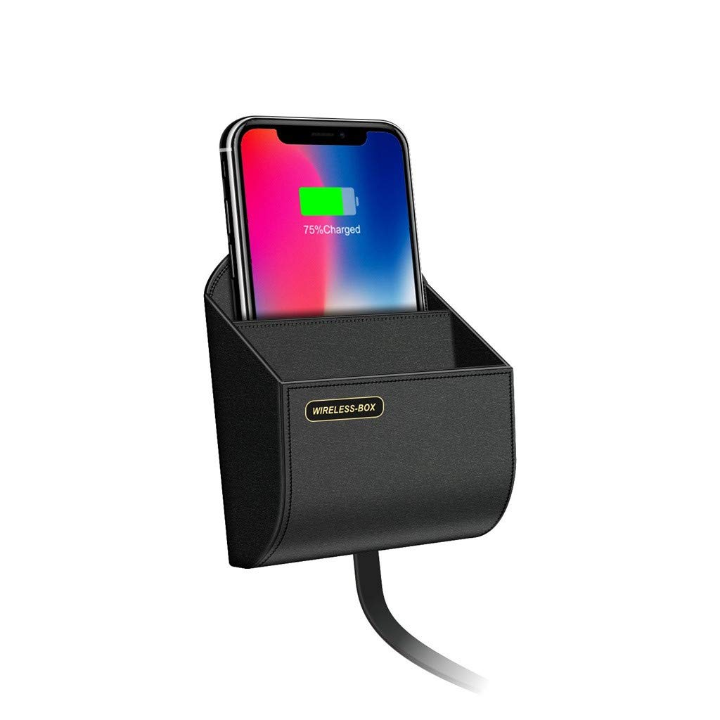 Pollyhb Wireless Charger Storage Box Car Charging Dock Station,Compatible for iPhone,Compatible Samsung by Pollyhb's Wireless Charger (Image #4)