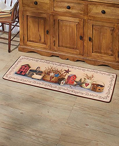 The Lakeside Collection 52quot Primitive Country Kitchen Rug