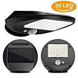 Solar Lights Outdoor, Everbright Solar Security 30 LED Lights with Motion Sensor, Home Wireless Weatherproof Garden Wall Lights Solar Powered Led Security for Yard, Pathway, Walkway, Drivewa