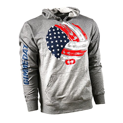 GIMMEDAT USA Volleyball French Terry Hoodie Women Girl Player Fan Gift (Large) (Best Male Volleyball Player)