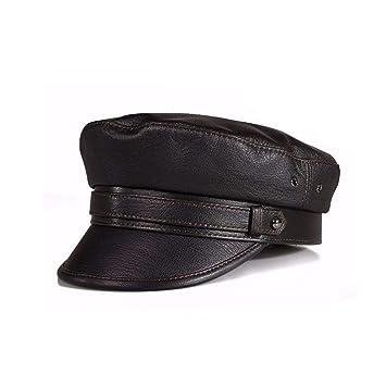 HAPPY-HAT Sombrero de Cuero de otoño e Invierno para Hombre y Mujer  Sombrero de cda4e56ee0b