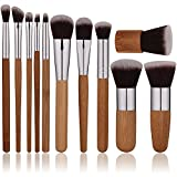 Oneleaf Premium Synthetic Bamboo Blush Foundation Eyeshadow Eyeliner Bronzer Makeup Brushes Sets
