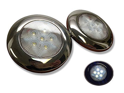 2 Of Pactrade Marine Boat Nature White LED Ceiling Light SS3.