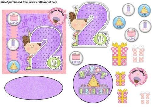 Decoración de cumpleaños 2 años para niña par Poore Sharon ...