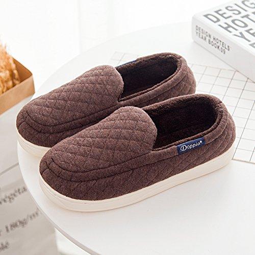 Accueil Semelle moelleux Parole LaxBa chaussons Chaussures agréable nbsp;Mesdames High d'Cotton café homme de Padded élastique Z8w5g8