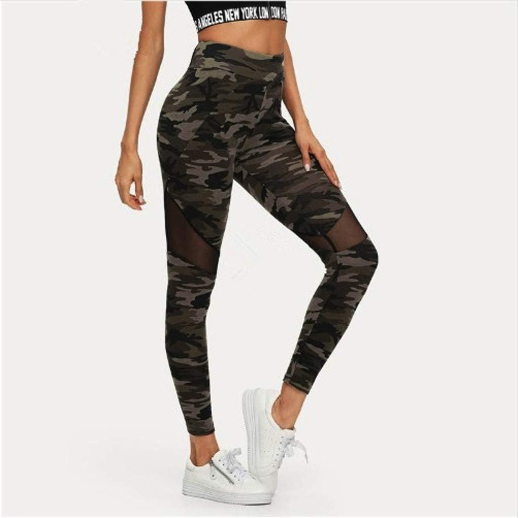 Houshelp Womens Yoga Capris Running Pants Workout Leggings High Waisted Training Cargo Pants Workout Clothes