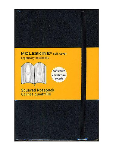 Moleskine Classic Soft Cover Notebooks graph 3 1/2 in. x 5 1/2 in. 192 pages [PACK OF 3 ]