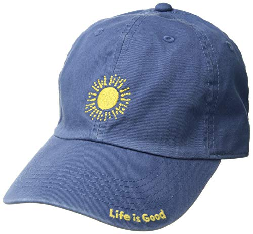 Good Adult Chill Cap - Life is Good Unisex Chill Cap Sketched Sun, Vintage Blue, One Size
