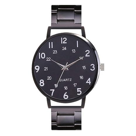 Relojes Hombre Imitacion, de los Hombres Acero Inoxidable Quartz Analog Date Wrist Reloj Deporte Relojes