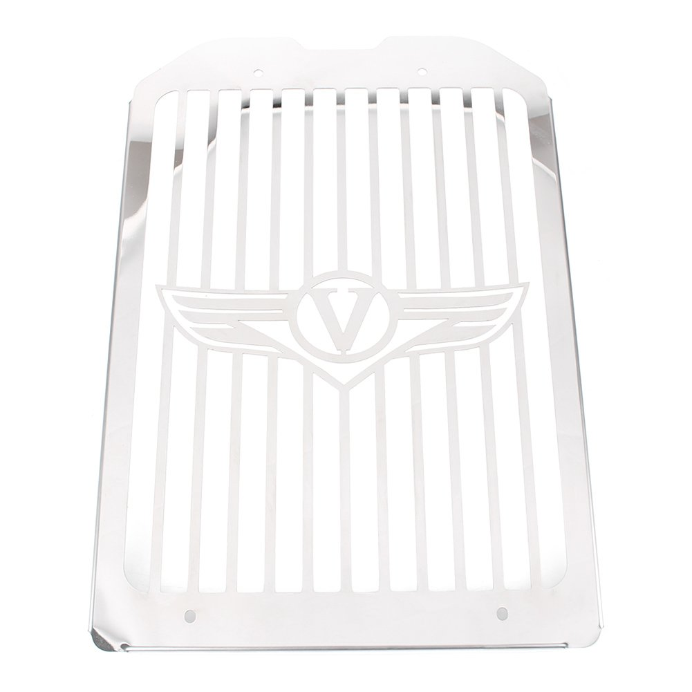 Timmart Polish Grill Cover Fits for 2002-2008 Kawasaki Vulcan 1500 Meanstreak VN1500