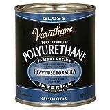 Rust-Oleum Varathane 200041H 1-Quart Interior Crystal Clear Water-Based Poleurethane, Gloss Finish