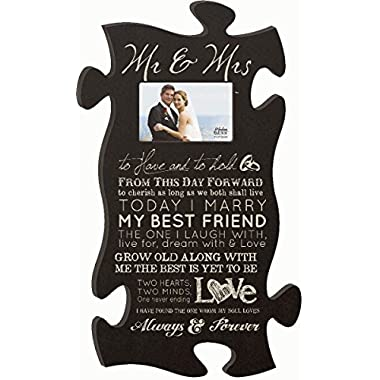 Mr & Mrs Puzzle Photo Frame 22 X 13