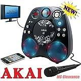 Akai KS390 CD+G Karaoke Machine with Built-in Stereo Speakers & Light Show Effect