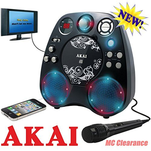 Akai Karaoke CD+G Machine KS390 with Light Show Effect and Built-in Stereo Speakers