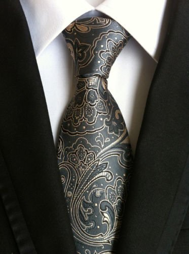 new-classic-paisley-gray-jacquard-woven-100-silk-mens-tie-necktie