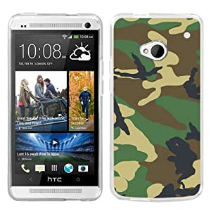 One Tough Shield ? Slim-Fit Hard Cover Case for HTC ONE - (Camo Green)