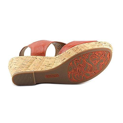 Comfortiva Rainer Women Us 9.5 Brown Wedge Sandal