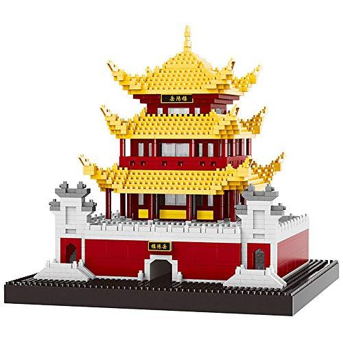 Architecture China Ancient - China Ancient Architecture Yueyang Tower 3D Model DIY Diamond Mini Building Nano Bricks Blocks Assembled Toys