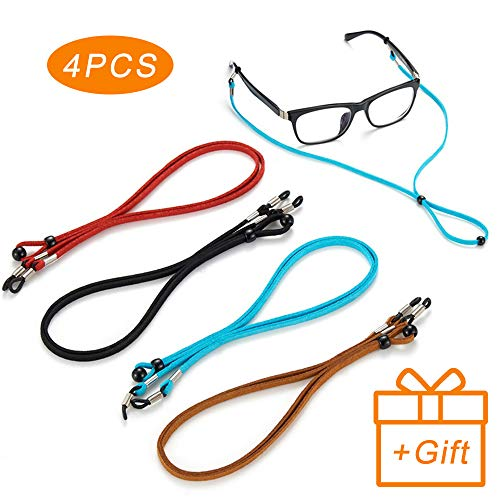 Premium Leather Eyeglasses Straps Chains Adjustable Retainer product image